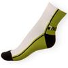 Ponožky Phuseckle Streetline zeleno-bílé půlené