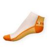 Kotníkové ponožky Phuseckle Summerline žluto-bílé půlené - zobrazit detail zboží