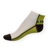 Kotníkové ponožky Phuseckle Summerline zeleno-bílé půlené - zobrazit detail zboží