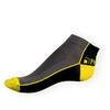 Kotníkové ponožky Phuseckle Summerline šedo-černé půlené - zobrazit detail zboží