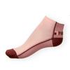 Kotníkové ponožky Phuseckle Summerline vínovo-růžové půlené - zobrazit detail zboží