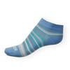 Dámské kotníkové ponožky Phuseckle Summerline modro-bílé pruhy