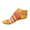 Dámské kotníkové ponožky Phuseckle Summerline žluto-červené pruhy - zobrazit detail zboží