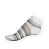 Dámské kotníkové ponožky Phuseckle Summerline bílo-šedé pruhy