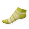Dámské kotníkové ponožky Phuseckle Summerline zeleno-bílé pruhy