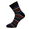 Pánské černé ponožky s barevnými pruhy - zobrazit detail zboží