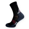 Sportovní ponožky se stříbrem černo-šedé